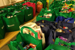 Grocery bags for Fill The Belly Bus Food Drive