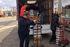 Food delivery at the Orange Food Pantry