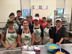 Volunteers at Greenfield Savings Bank