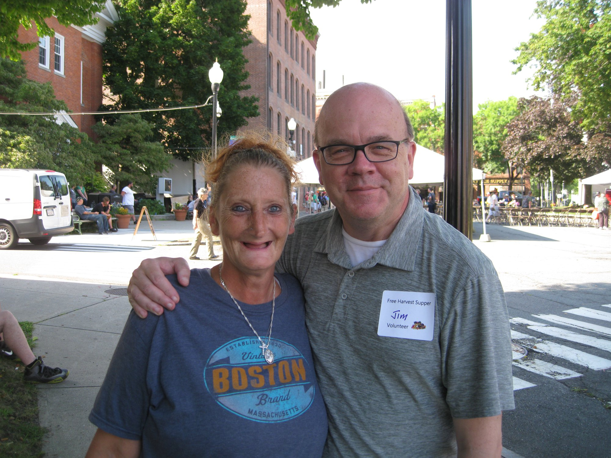 Congressman Jim McGovern and Tammy Newell at the 15th Annual Free Harvest Supper of Locally Grown Food